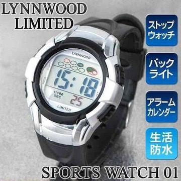 WATCH 01 防水 バックライト アラーム/ストップウォッチ付 M7045
