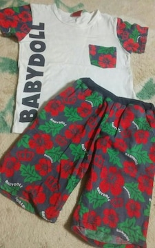140 BABY DOLL ティーシャツと短パンツのセット