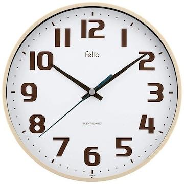 置き時計 掛け時計 アイボリー   アナログ