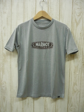 即決☆マーモット特価 サイン半袖Tシャツ GRY/Mサイズ  吸汗・速乾