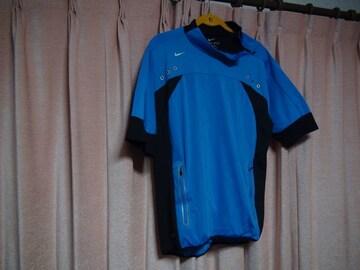 NIKEのポロシャツ(XL)ブルーブラック!