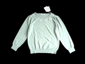 新品 After All  ワールド 刺繍 パール使い ニット セーター