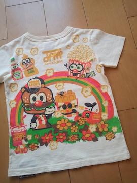 中古レインボーTシャツ120オフホワイトJAM
