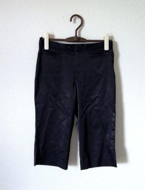 組曲■さらさら ブラック サテン カプリ サブリナ パンツ  < ブランドの