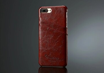 iphone7 Plus/8 plus レザーケース オイルレザーカバーbr