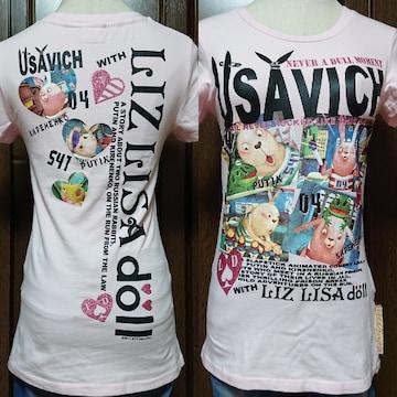 F/新品LIZLISA☆ウサビッチTシャツ