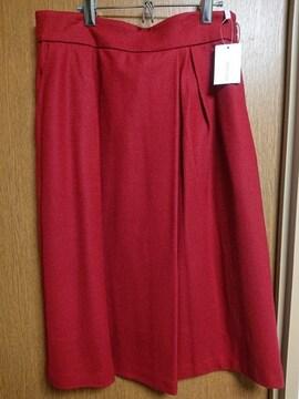 アンタイトル昨季新品レッドタックタイトフレアスカート大きいサイズ4213号15号LLXL