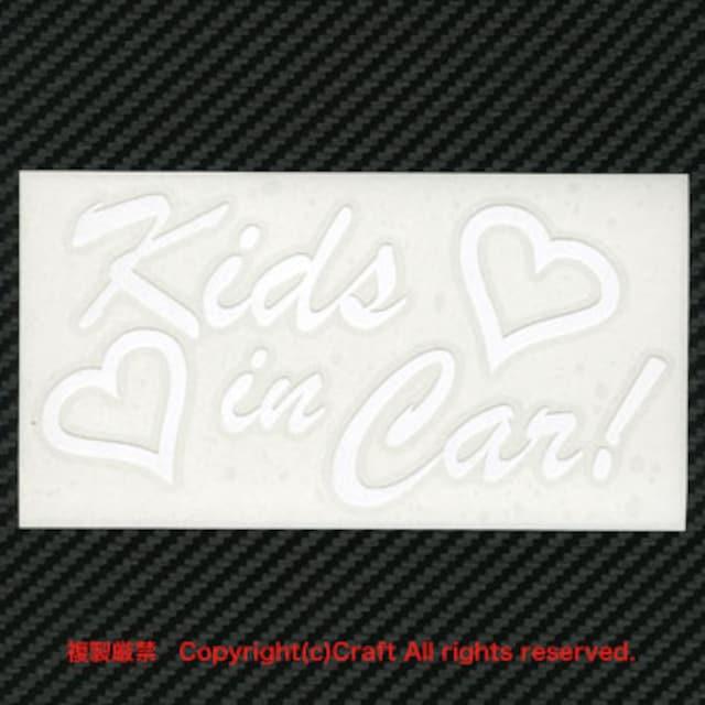 Kids in Car/ステッカー(ハート)白 < 自動車/バイク