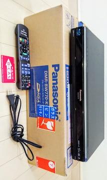 美品 Panasonic パナソニック  ブルーレイディスクレコーダー DMR-BW770-K  リモコン
