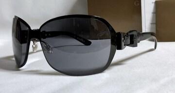 正規新古 グッチGUCCI リボン ベルトバックル メタルサングラス黒 メタリック 付属完備