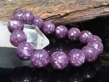 高級天然石§レピドライト12ミリ数珠