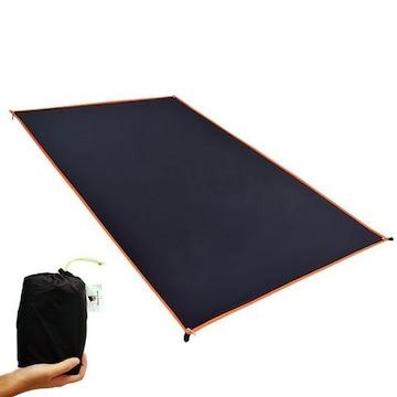 テントシート 軽量 防水 グランド マット 1〜4人用 ブラック