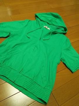 TLサイズ/半袖パーカー/グリーン
