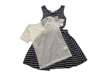 新品 定価6930円 jouetie ジュエティ Tシャツ付き ワンピース 紺