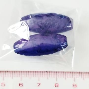 27*ガラスビーズ 大理石模様縦穴オーバル 35