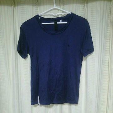 rovtskiデザイン半袖カットソーサイズ3ネイビー日本製ロフトスキー紺色Tシャツドメスティック