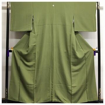 美品 極上 高級呉服 裄66 身丈156 正絹 色無地 一つ紋入り 中古