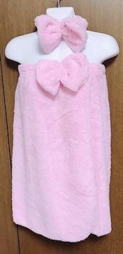 m】コスプレ お風呂上がり ピンク
