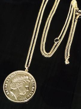 18金 オーストラリア エリザベス ゴールドコイン gpnecklace