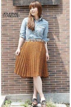 ジャーナルスタンダード*journal standard★アコーディオン小花柄スカート(38)新品