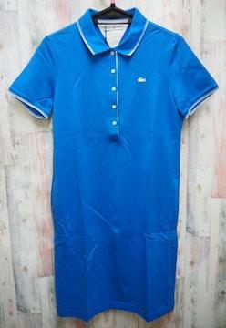 LACOSTE ラコステ ゴルフ 半袖 ポロシャツ ワンピース M 青