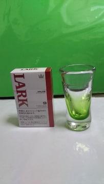 吹きガラスのぐい呑かショットグラス〔緑〕