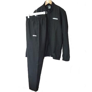 大きいサイズ新品XOアディダス 黒MCOREウーヴントラックスーツ