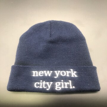 即決 INGNI ニット帽 new york city girl