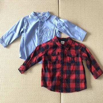 【H&M】シャツ2セット 80cm