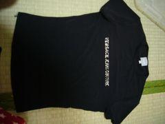ヴェルサーチVERSACE黒ラインストーンロゴ入り半袖XSTシャツセレブ愛用ニコールパリス