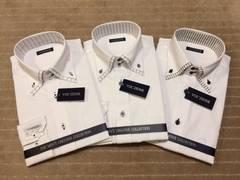 新品・長袖ワイシャツ ダブルカラー 3枚セット 3Lサイズ