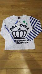 ベビードール♪未使用品♪ミッキーの長袖Tシャツ☆140☆