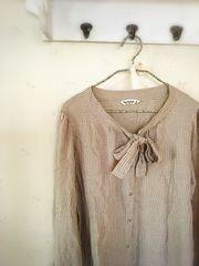 SM2*タイ付きシャツ*秋*ベージュ