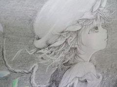 †東方†フラン「月光」†鉛筆画†自作イラスト1円スタート†
