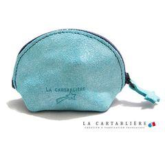 LA CARTABLIEREフランス製きらきらスエード 半円ポーチ#Sフ