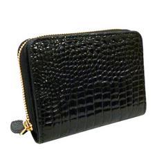 クロコダイル財布ベリー女性用SBMW-298ブラック