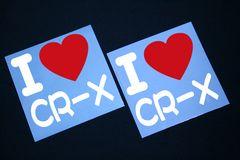 I LOVE ステッカー2枚組み 各色有り CR-X