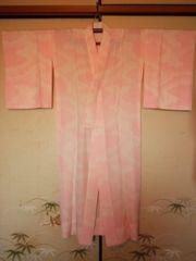 ピンク*雲取柄長襦袢正絹単チョー美品長身