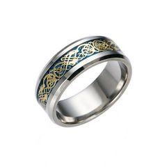 超お買い時490円★ドラゴンデザイン指輪 メンズ ステンレス8号