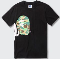 ape 半袖Tシャツ 黒 XL エイプ  a bathing ape side