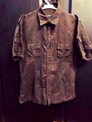 3枚セット売り美品コムサイズム夏シャツ半袖ブラウン靴下 新品