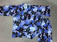 新品 甚平 Mサイズ 黒×紫 夏祭り 盆踊り