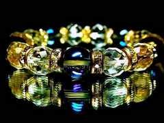 煌びやか天然石アクアオーラブルー・64面カット水晶AAA豪華絢爛