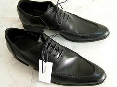 3万新品ハイストリートL黒 シューズ レザー本皮革靴 TORNADOMART