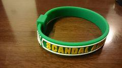 SCANDAL「シリコンバンド/緑」ラバーブレス