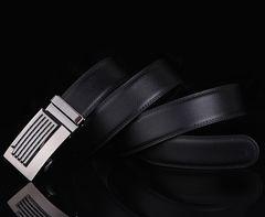 オートロック式 本革 高級ベルト 110cm〜125cm 長さ選択J