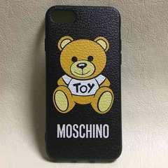 新品!moschinoモスキーノiPhone7/8兼用ソフトケースケース