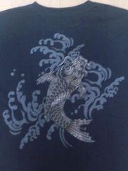 ☆新品[絡繰魂]激シブ銀双鯉 半袖Tシャツ スカジャン好きにも