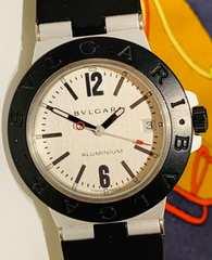 良品ブルガリアルミニウムメンズ時計AL38TA稼働品オートマチック