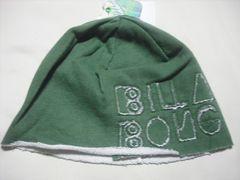 wn69 女 BILLABONG ビラボン スウェット帽 ビーニー 緑
